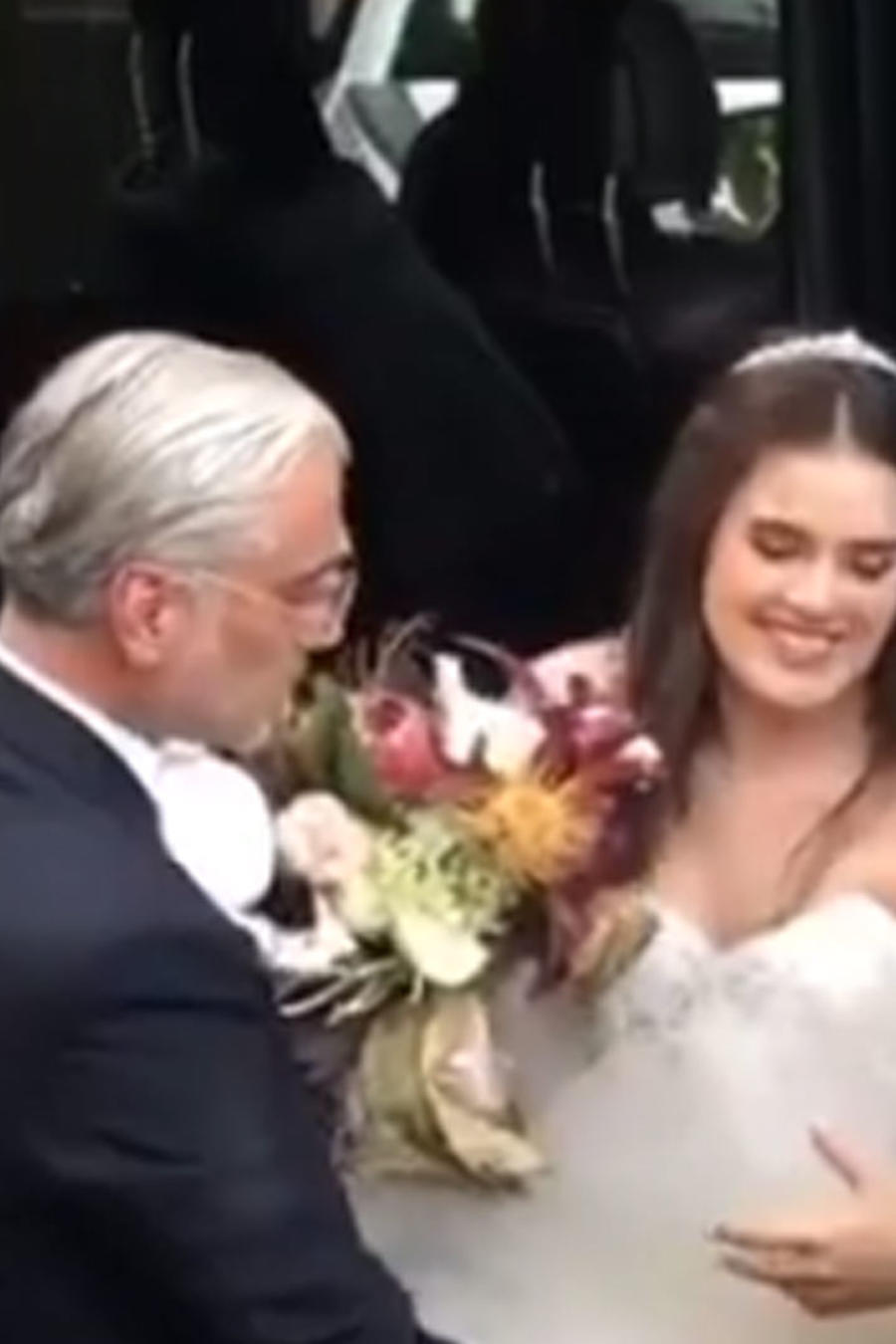 Camila Fernández en su boda