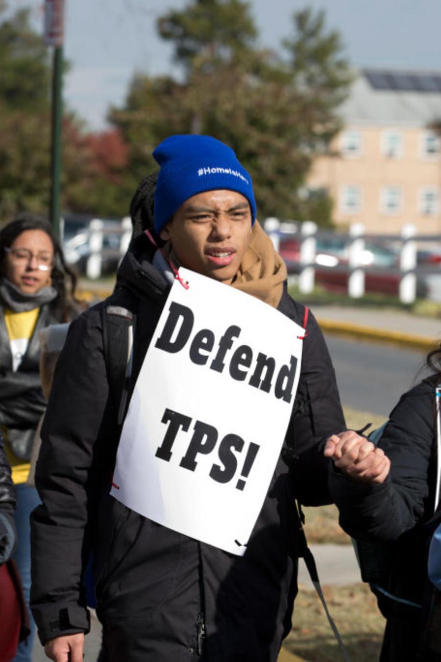 """""""Nuestro hogar es aquí"""": el mensaje de una marcha en apoyo a DACA y el TPS en noviembre de 2019, en Maryland."""