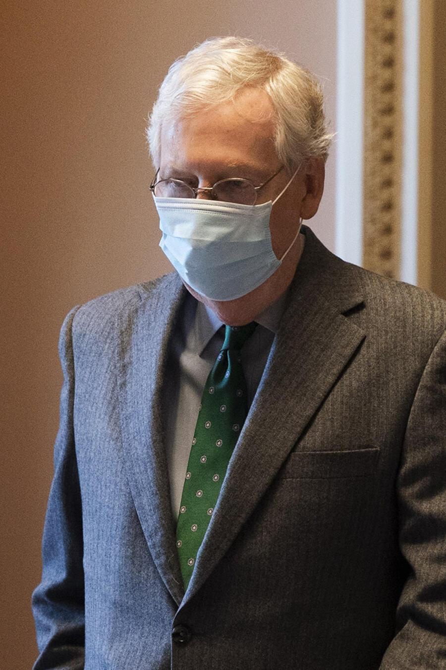 El líder de la mayoría en el Senado, el republicano Mitch McConnell.