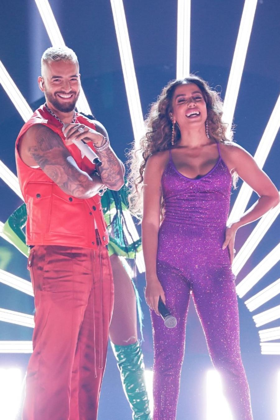 Wisin, Maluma, Anitta & Myke Towers en los Latin American Music Awards 2021