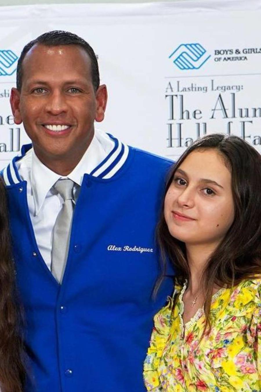 Jennifer Lopez; Alex Rodriguez con sus dos hijas, Natasha y Ella