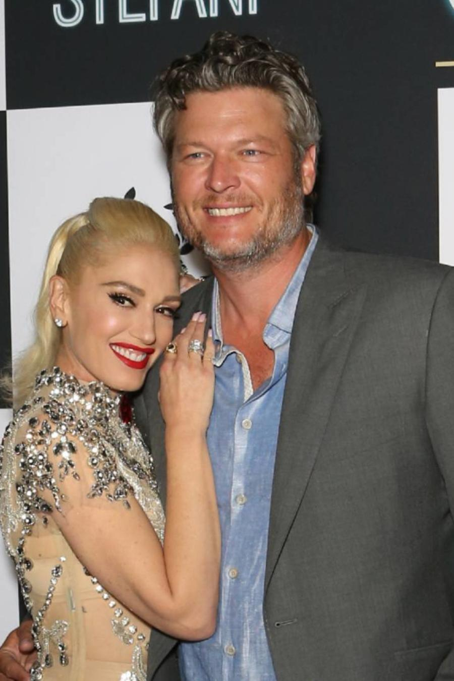 Gwen Stefani con Blake Shelton en 2018