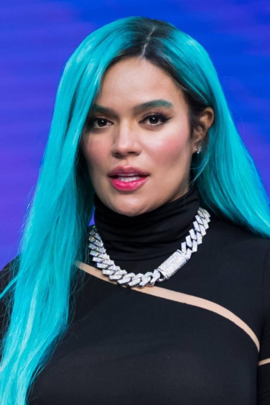 Karol G en su conferencia de la Billboard Latin Music Week 2021