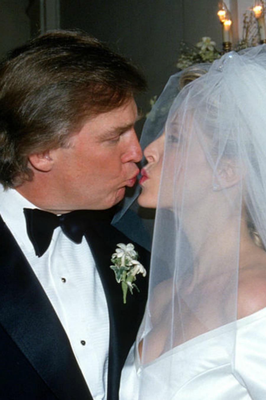 Donald Trump,  Ivana Trump y Marla Maples