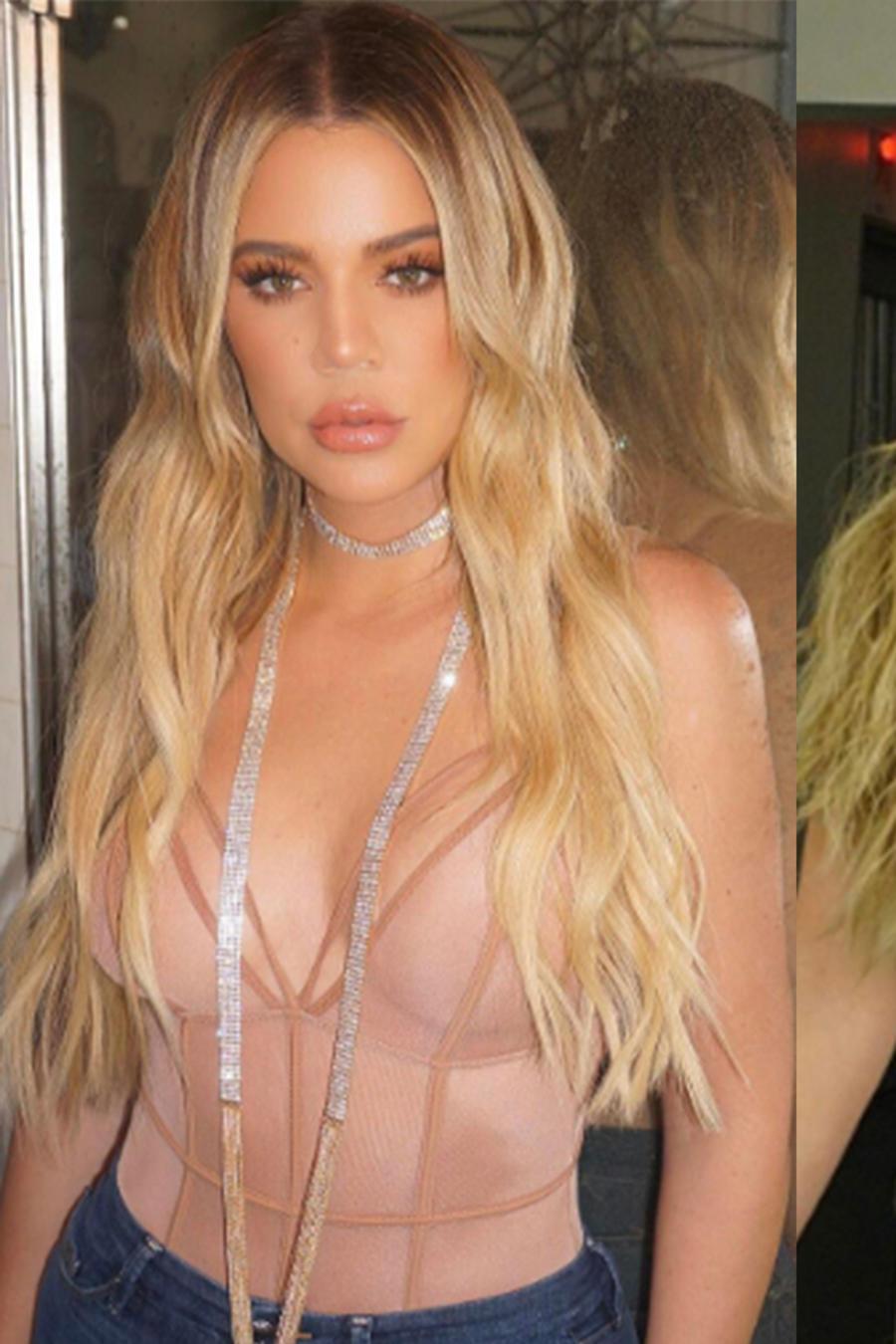 Collage de fotos de Khloé Kardashian.