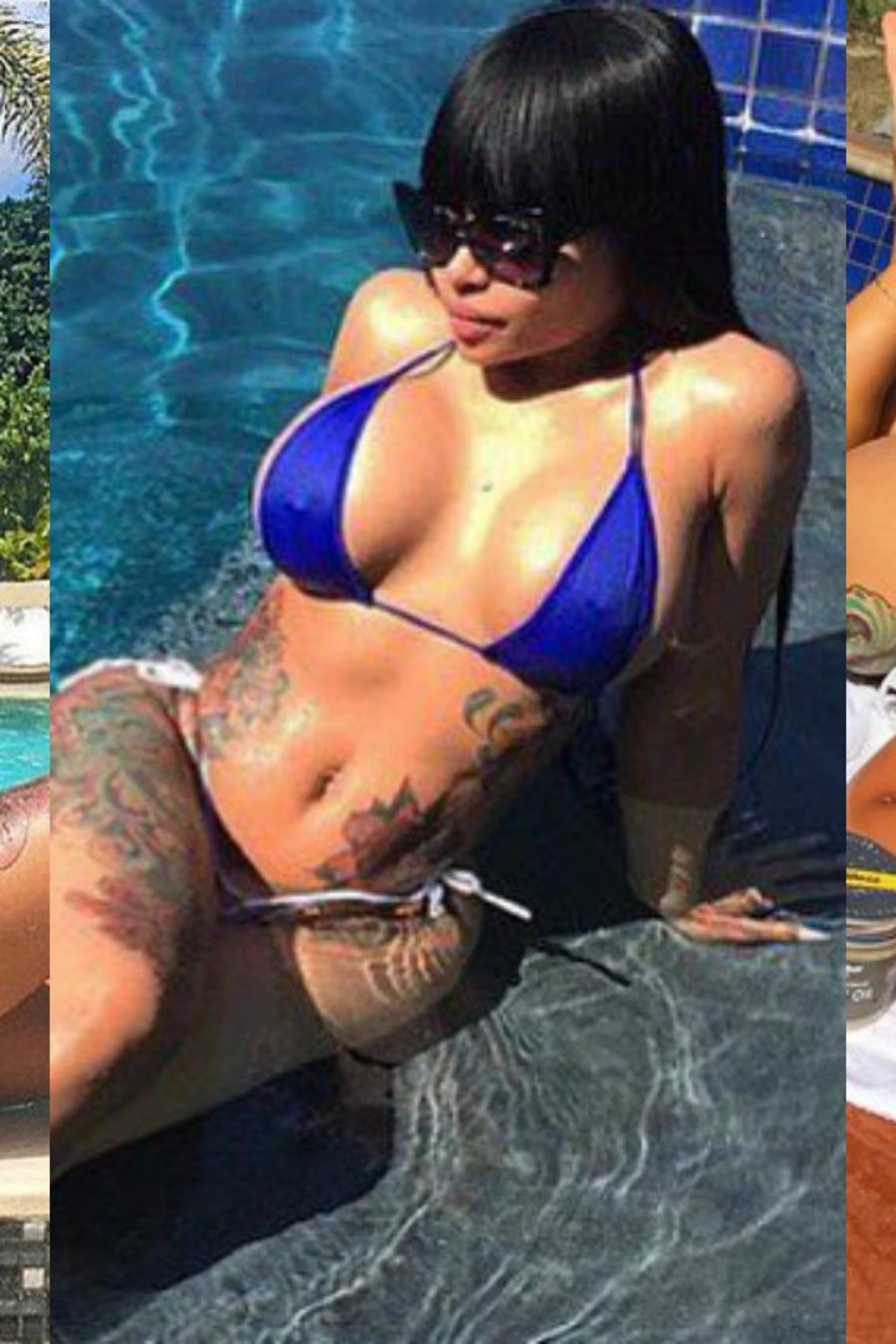 Blac Chyna en bikini a través de Instagram.