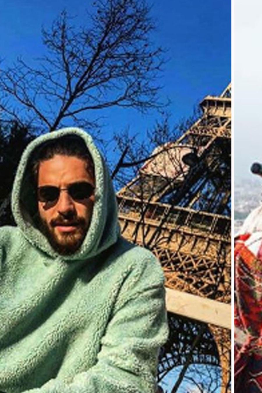 Collage famosos de vacaciones