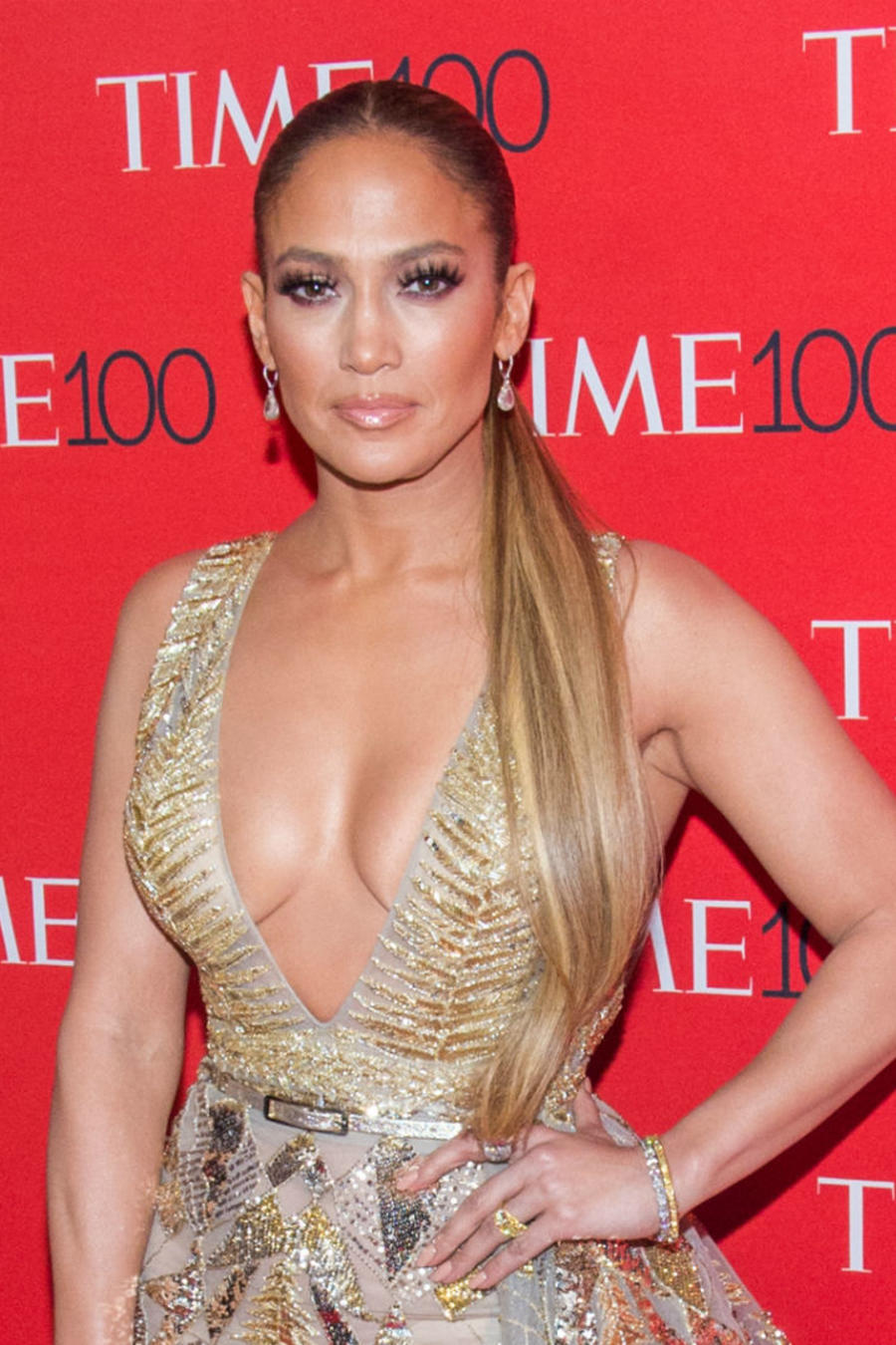 Jennifer Lopez en la gala Time 100