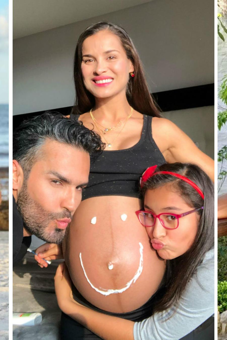 Yuly Ferreira y Fabián Ríos con su hija
