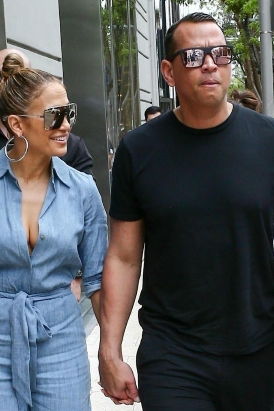 Emme, Jennifer Lopez, Alex Rodriguez y Ella en Miami
