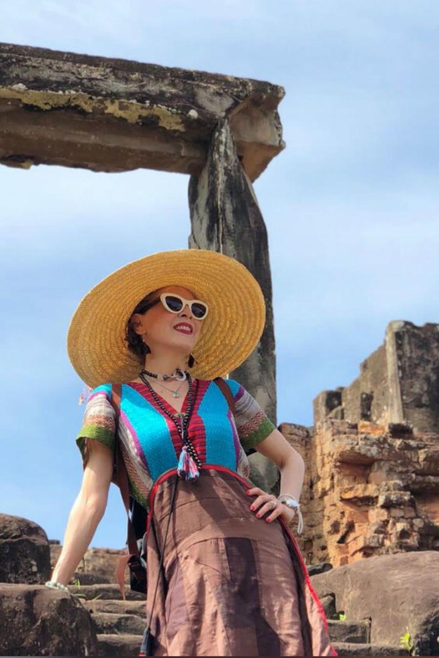 Edith González en Cambodia