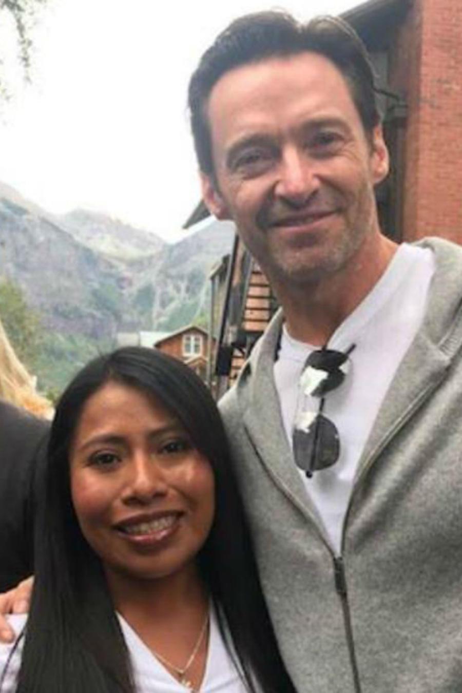 Yalitza Aparicio y Hugh Jackman