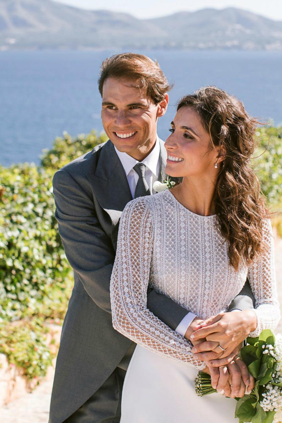 Rafael Nadal y Mery Perelló en el día de su boda