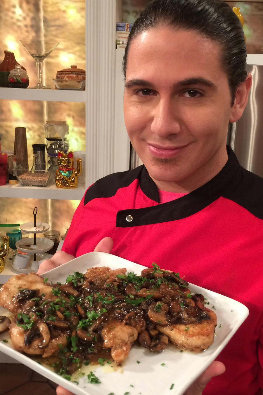 El Chef James prepara champiñones