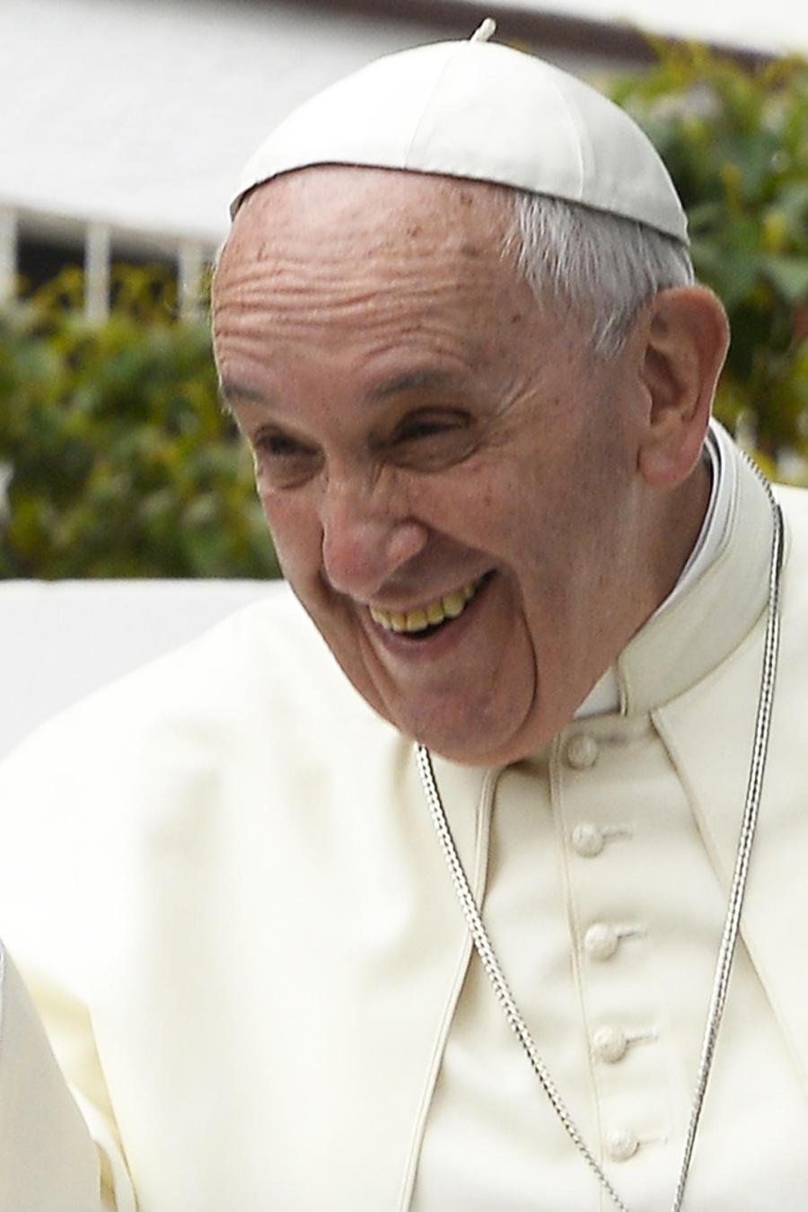 Papa Francisco sonriendo