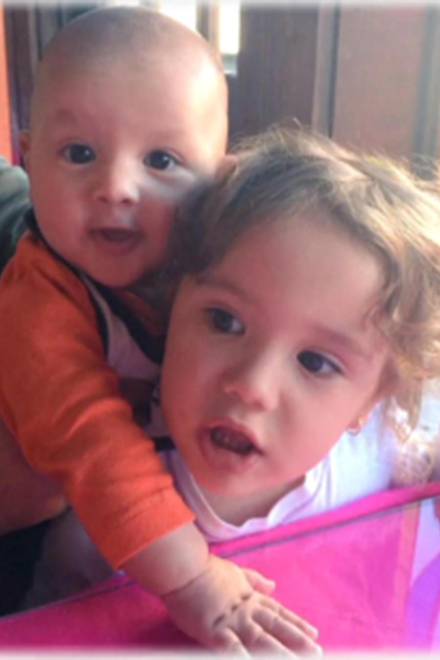 Los bebés de Angélica Vale en una foto de social