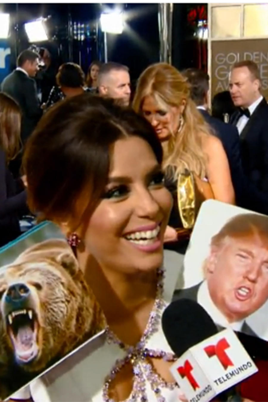 Eva Longoria en los Golden Globes 2016