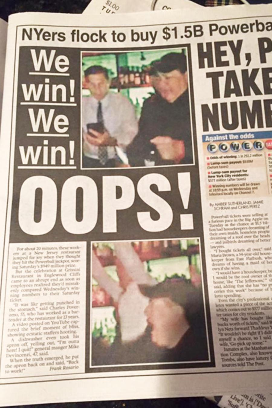 empleados celebran por error