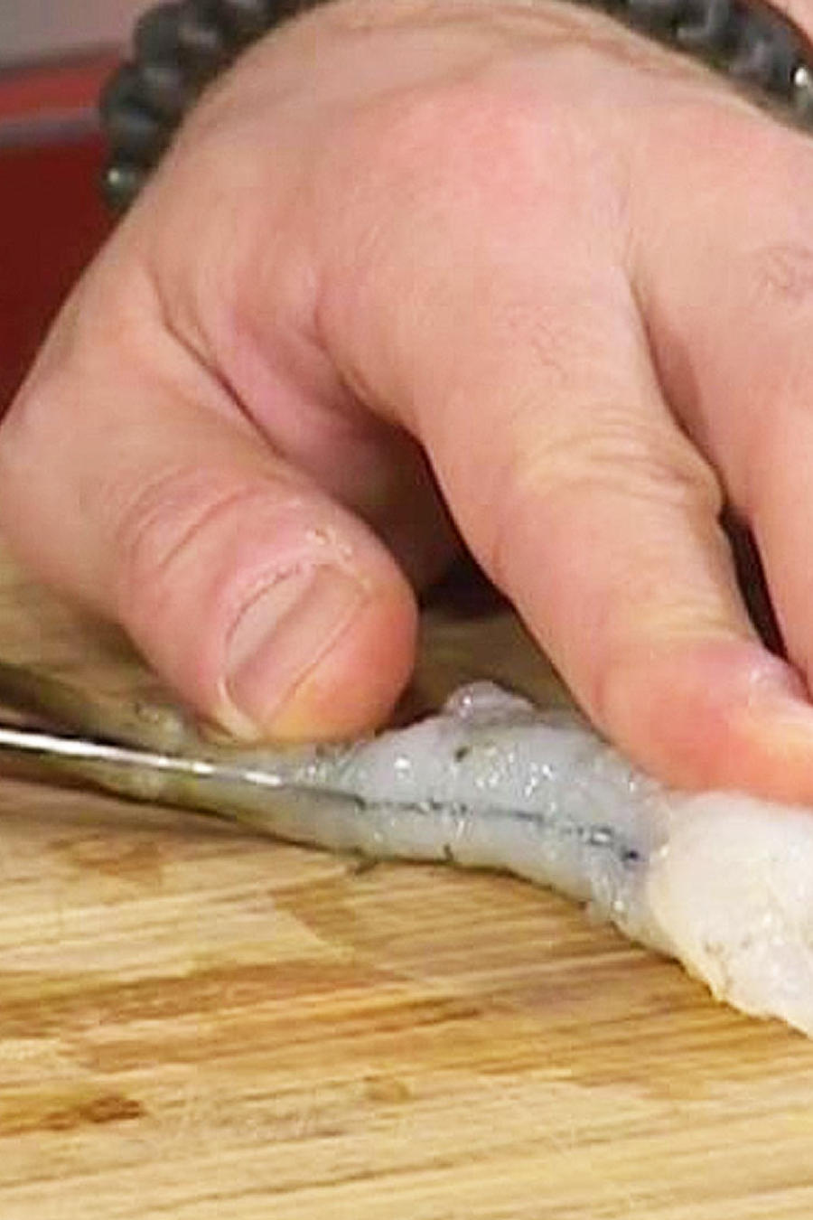 limpiar camarones