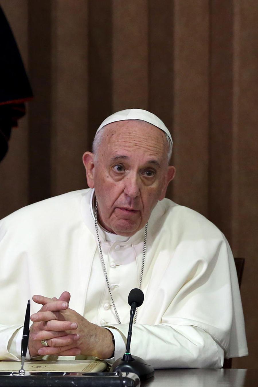 papa con patriarca ortodoxo