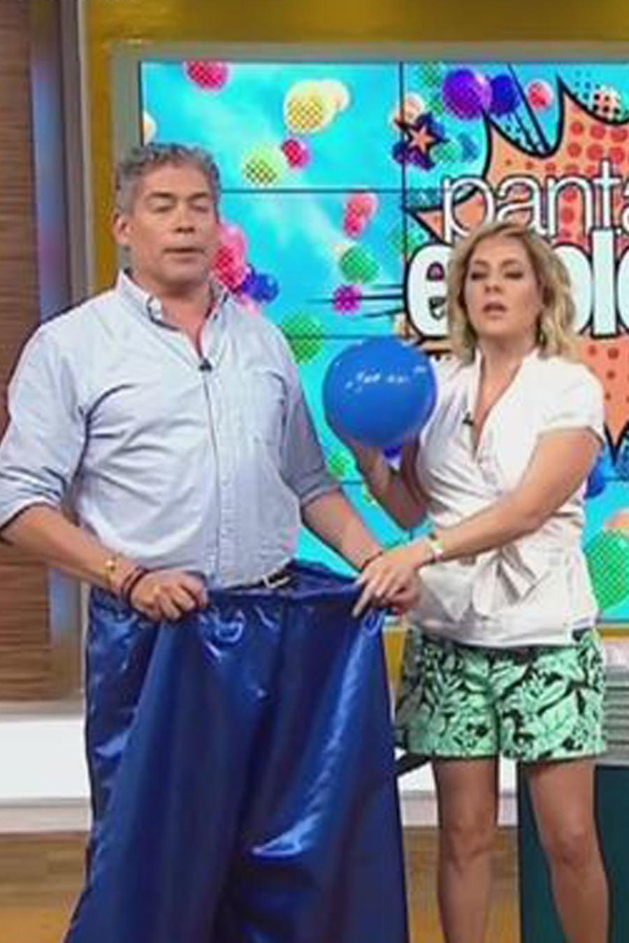 """Zuleyka Rivera y Boris juegan a """"Pantalones Explosivos"""""""