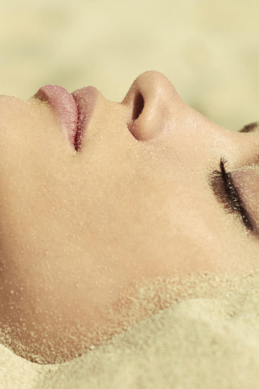 terapia de arena caliente