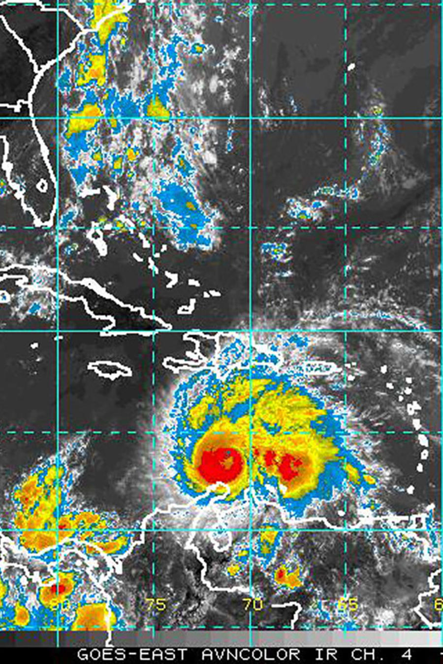 El huracán Matthew pasa por Colombia