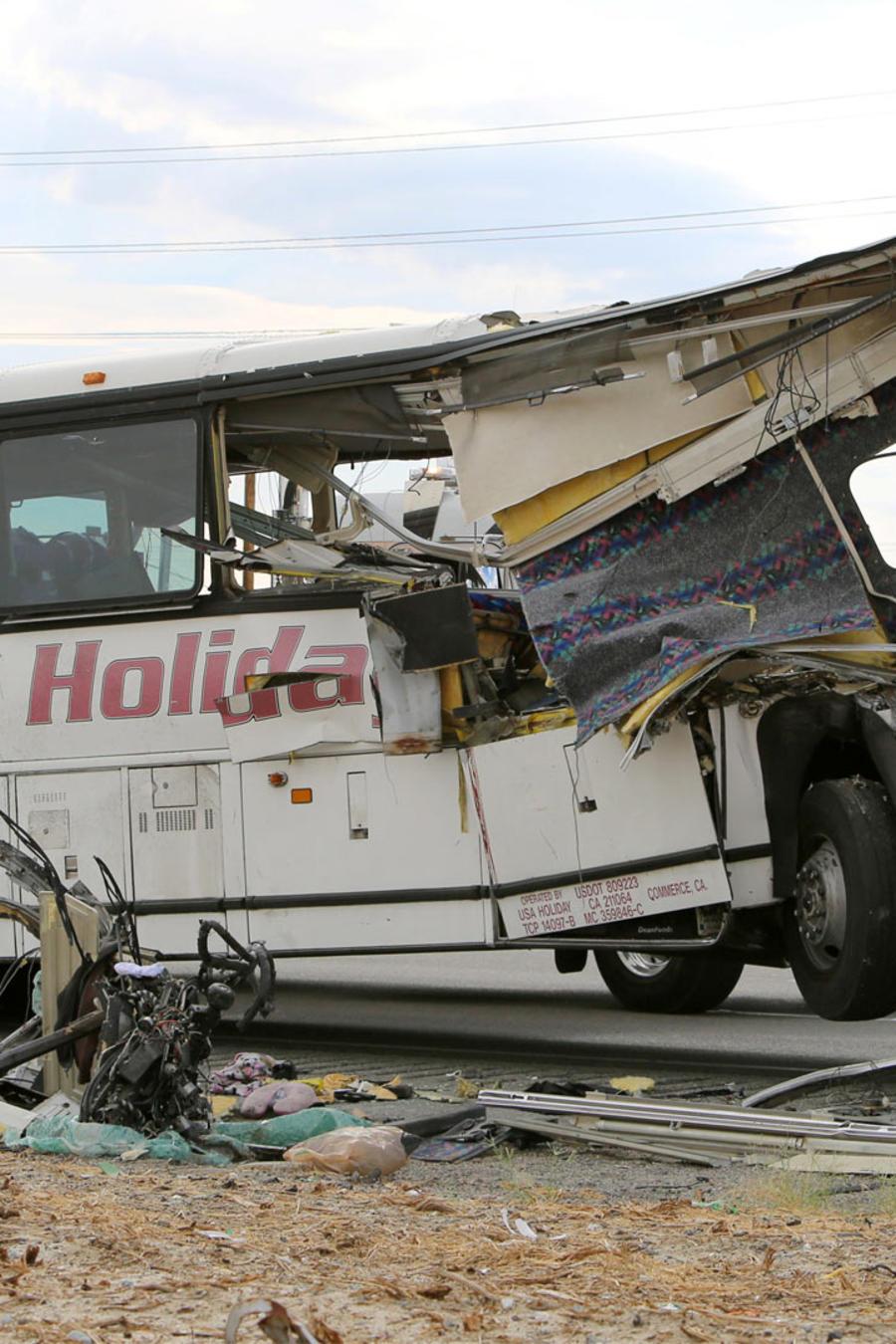 accidente de autobus en california