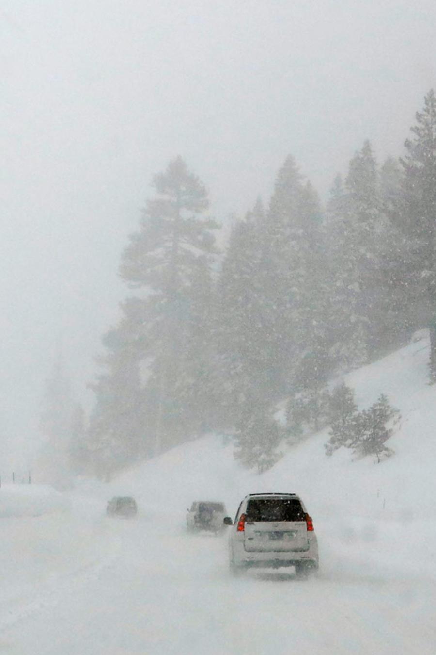 caos por tormenta invernal