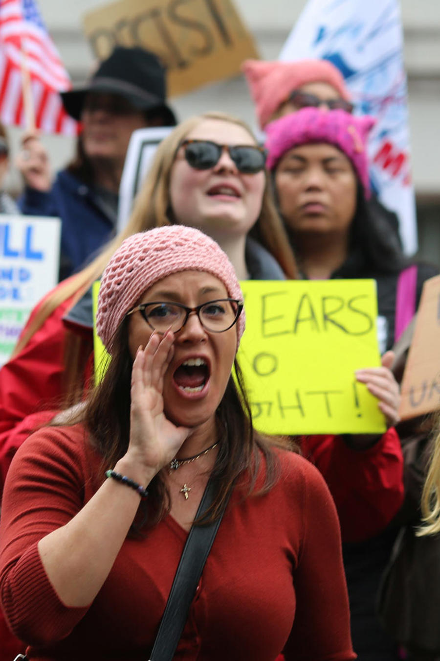 protestan dia del presidente