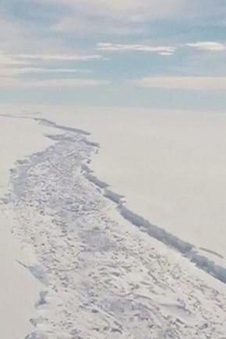 brecha en barrera de hielo