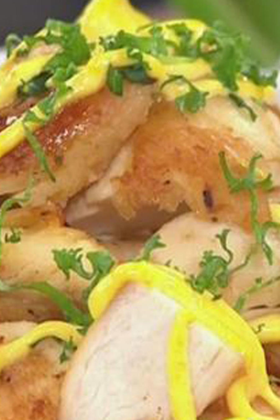 Receta de cocina: Salteado de pollo con mayonesa cítrica