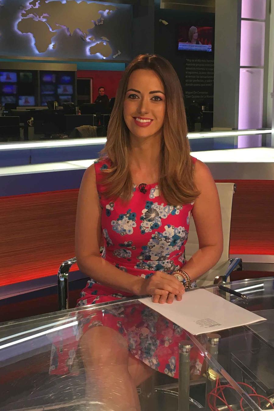 Paulina Sodia, presentadora de noticias de Un Nuevo Día