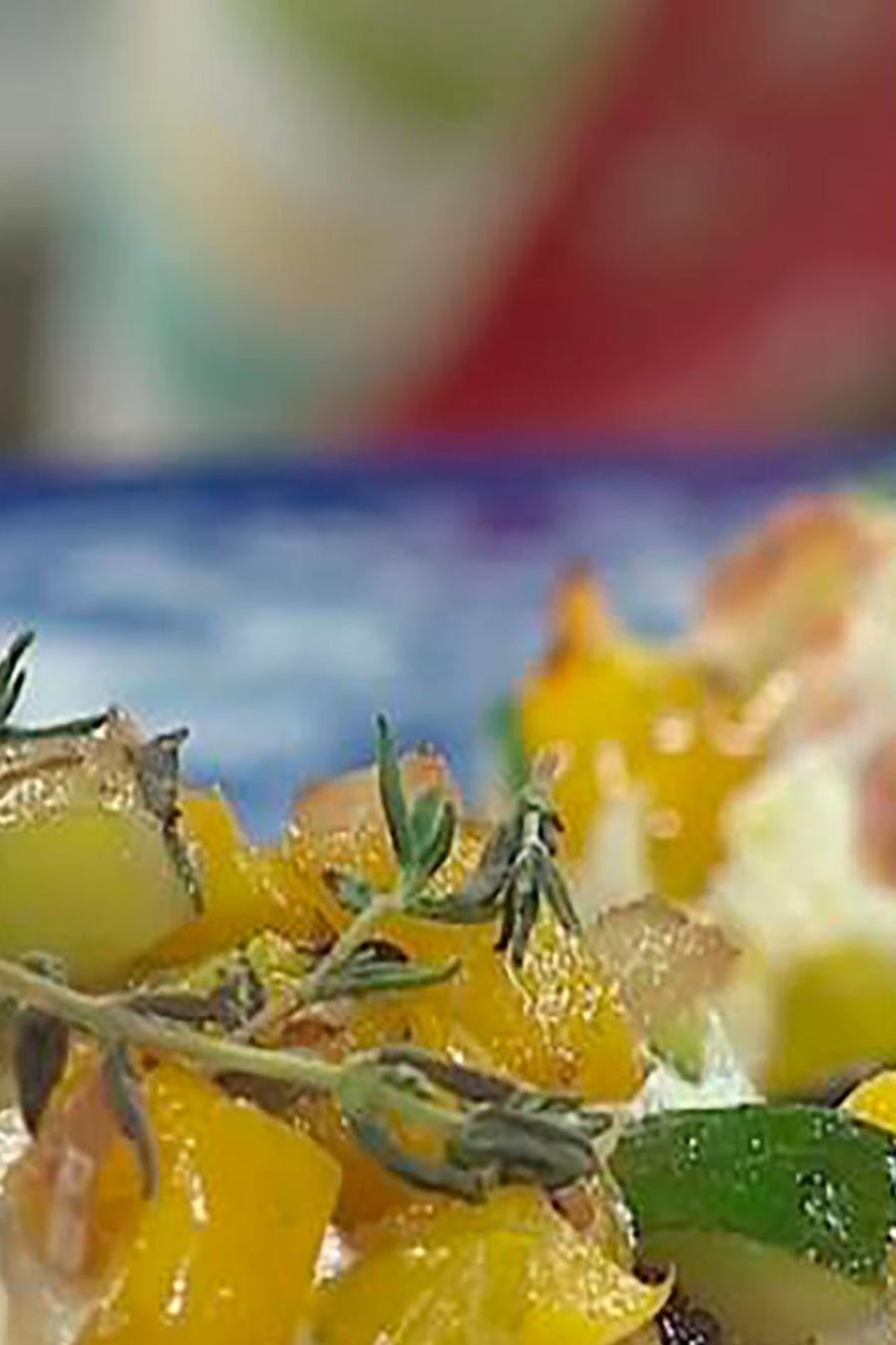 Recetas de cocina: Cómo hacer unos Hongos Rellenos con Vegetales y Queso Oaxaca