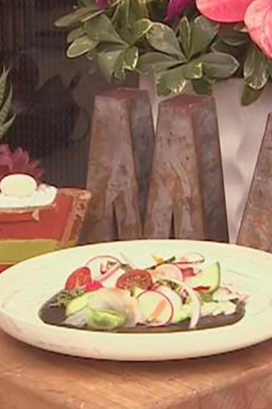 Recetas de cocina: Tiradito de Pulpo y Pescado con Leche de Tigre Quemada