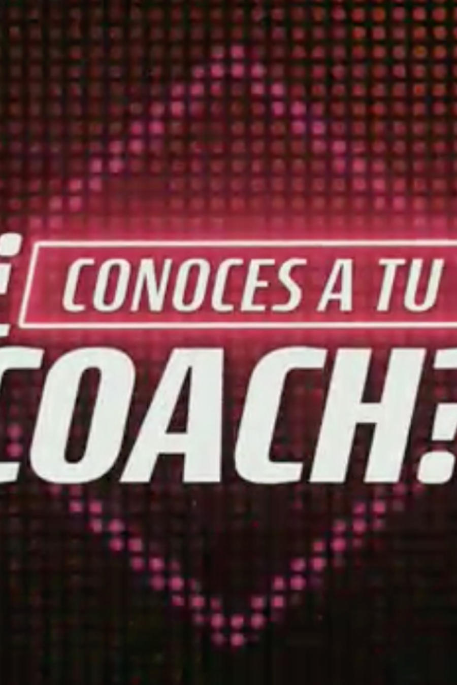 Conoces a tu coach