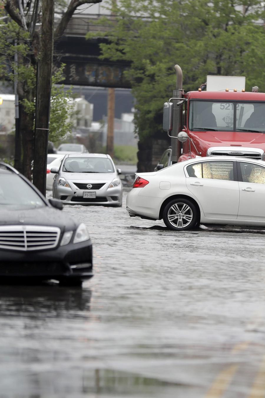Fotografía de archivo de una inundación en la Ciudad de Nueva York