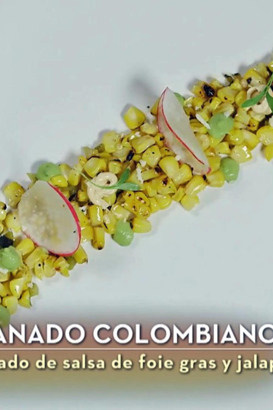 Lauren Arboleda cocinó un degranado collombiano como entrada en la final de MasterChef Latino 2