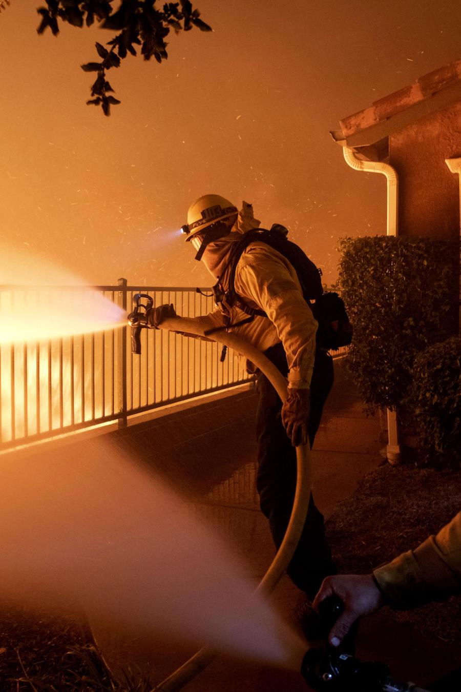 Imagen de los incendios en California.
