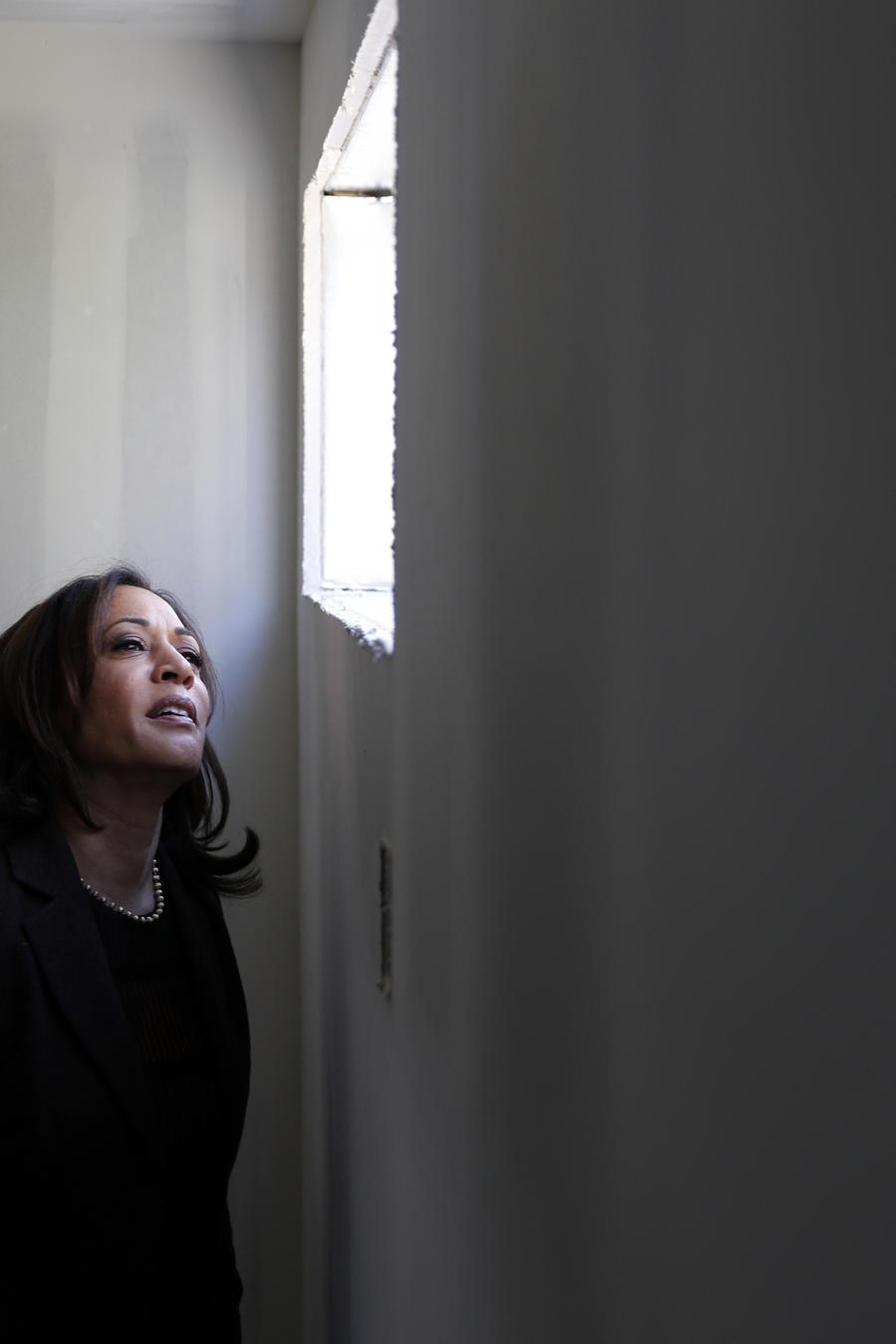 La precandidata demócrata Kamala Harris.