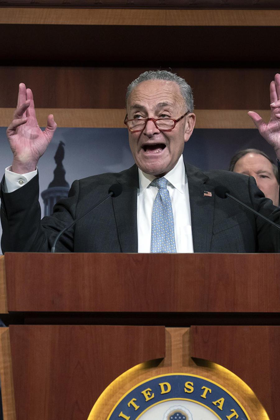 El líder de la minoría en el senado, Chuck Schumer.