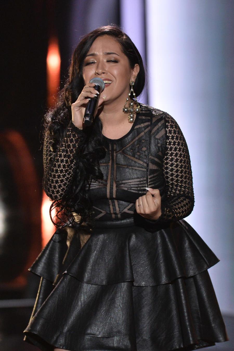 Janine Rivera en las audiciones a ciegas de La Voz US 2