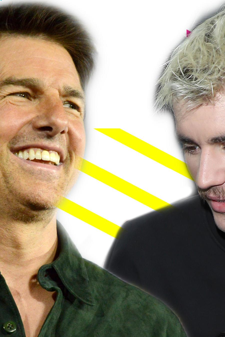 Tom Cruise y Justin Bieber