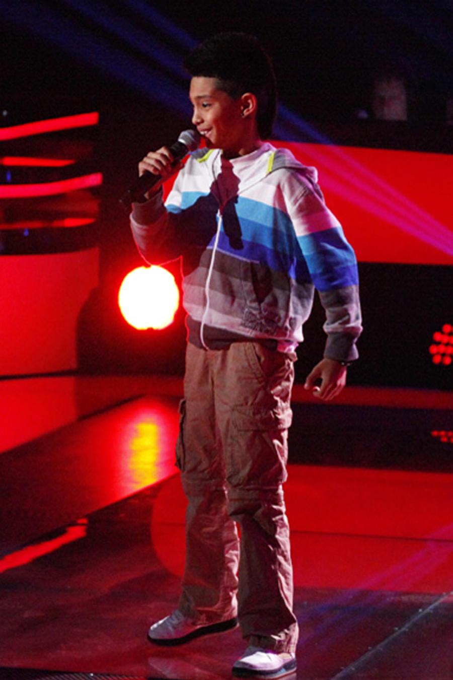 Axel en las audiciones a ciegas de La Voz Kids