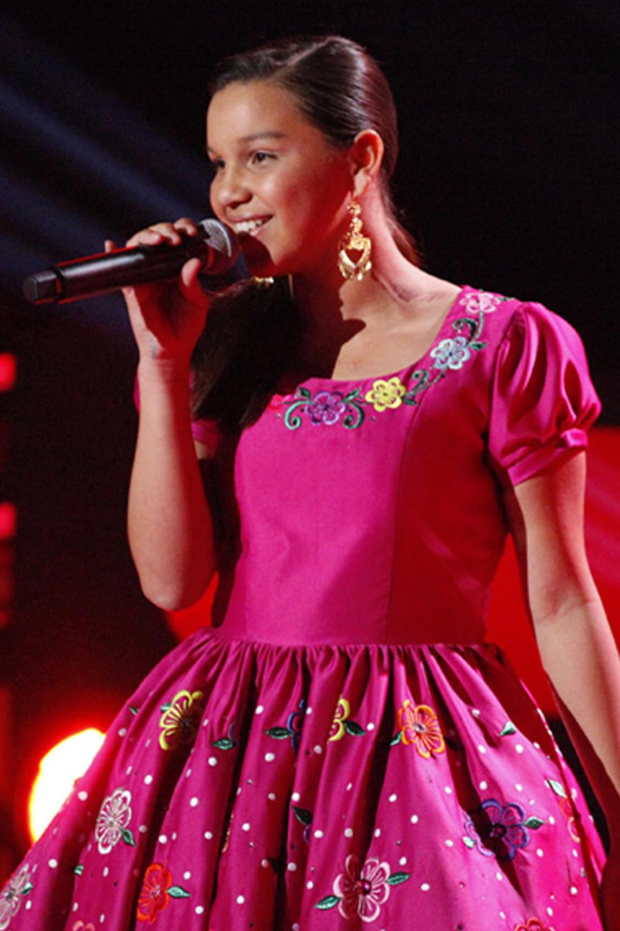 Kimberly en las audiciones a ciegas de La Voz Kids