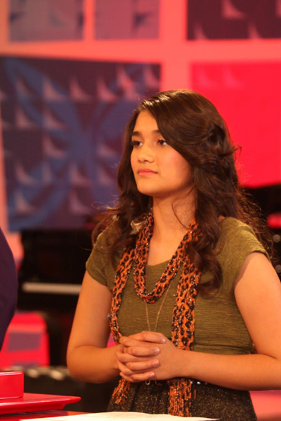 Johanna, Alan y Gabriela en los ensayos de las batallas de La Voz Kids