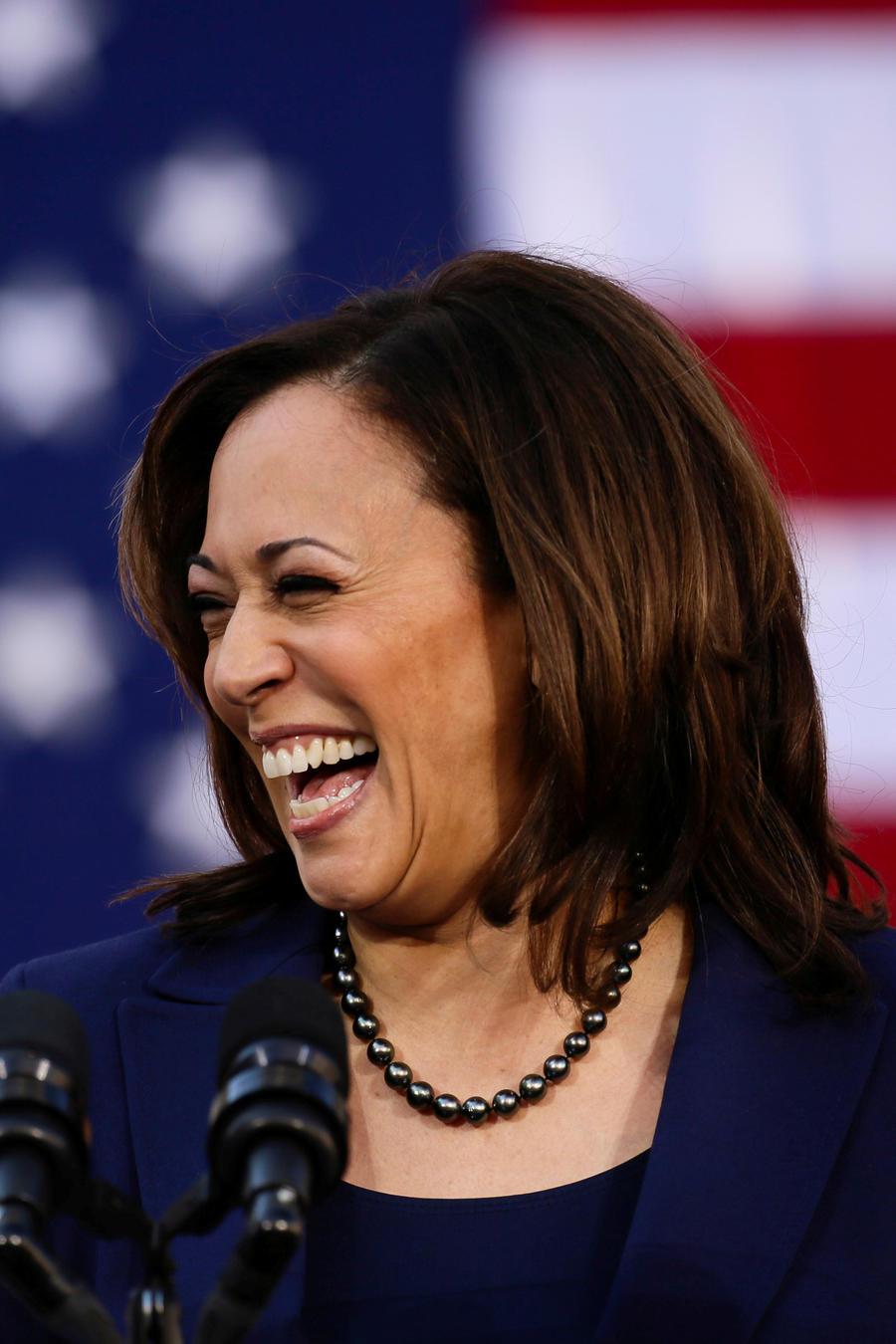 Kamala Harris aspirante a la vicepresidencia.