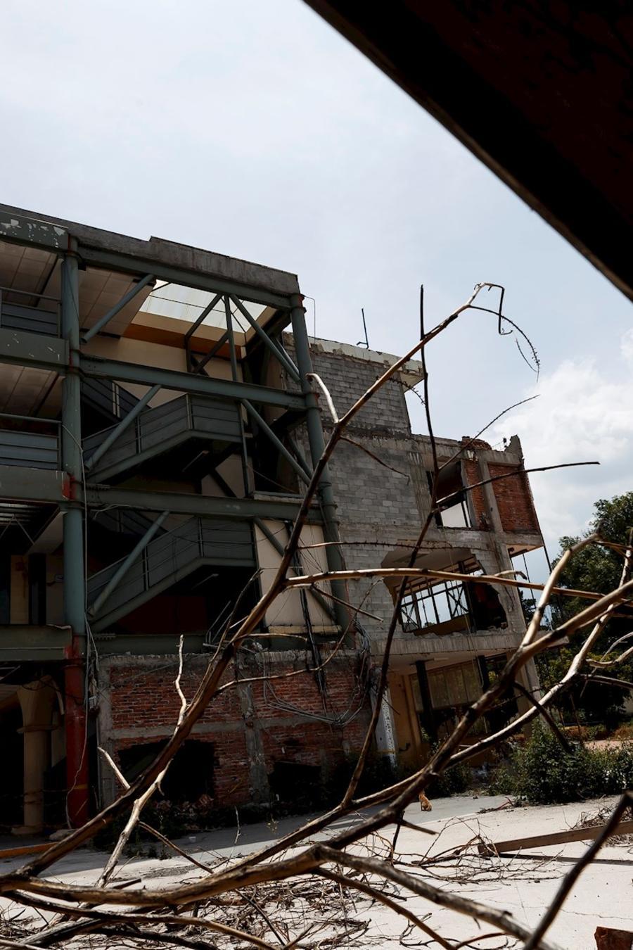 Vista general del Colegio Enrique Rébsamen el 14 de septiembre de 2020 en la Ciudad de México, donde 19 niños y siete adultos perdieron la vida al derrumbarse durante el terremoto ocurrido el 19 de septiembre de 2017 en Ciudad de México (México).