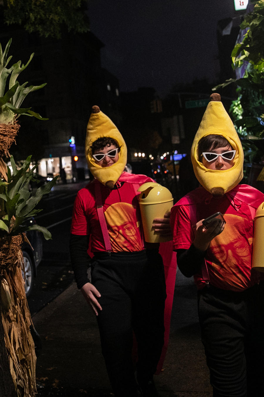 New Yorkers Celebrate Halloween In The City