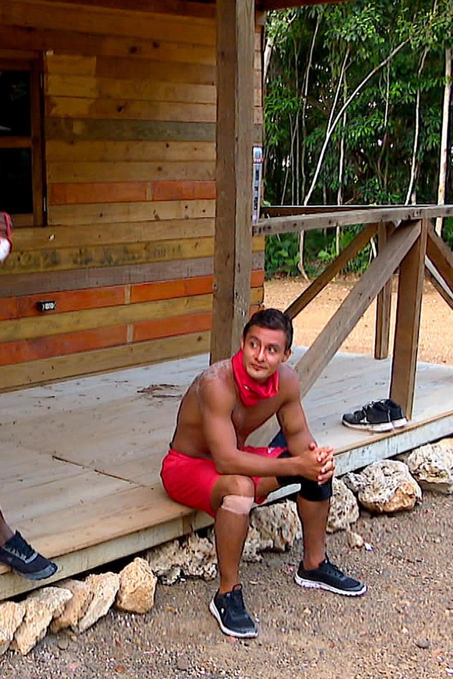 Lozada, Yamilet y Carlos en la Cabaña